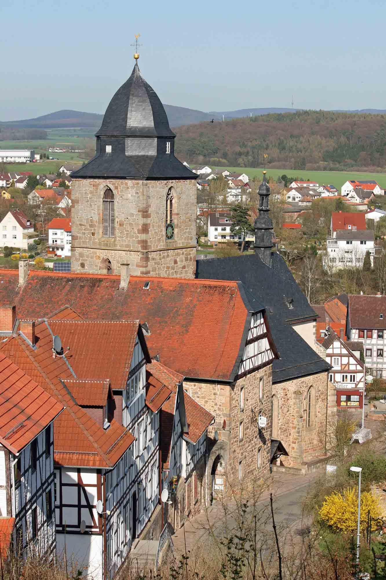 Altstadt Naumburg mit Kirche