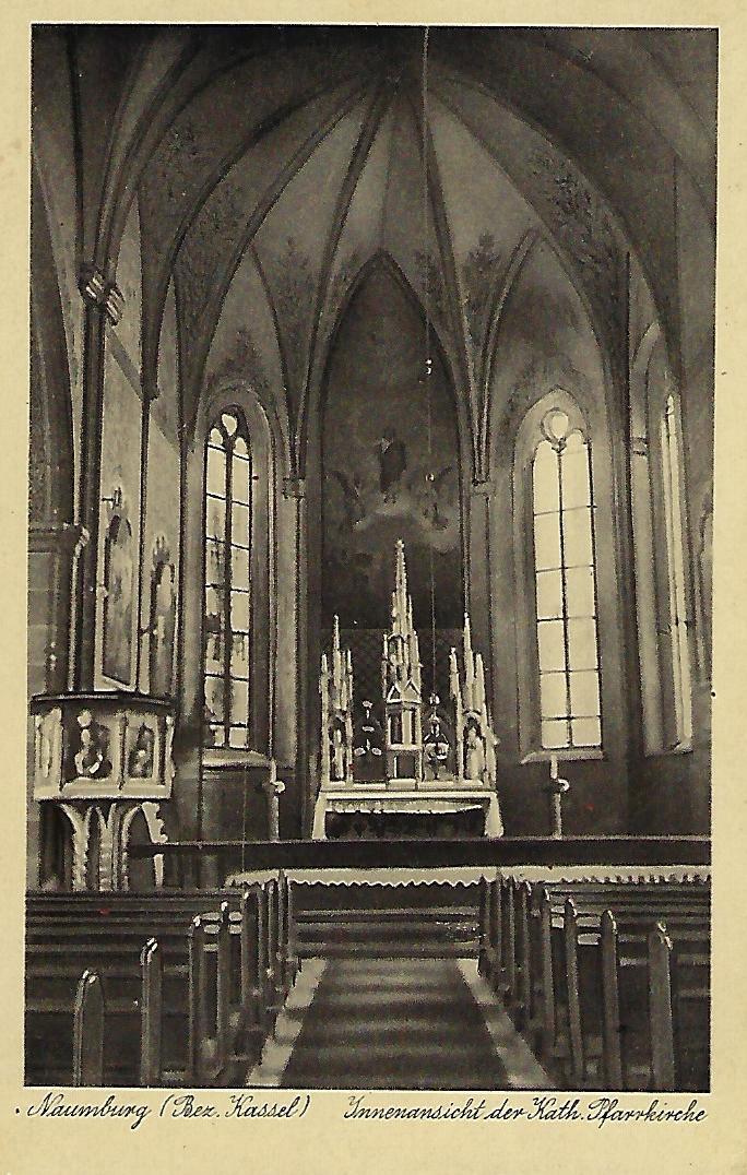 Kirche in Naumburg Innenansicht