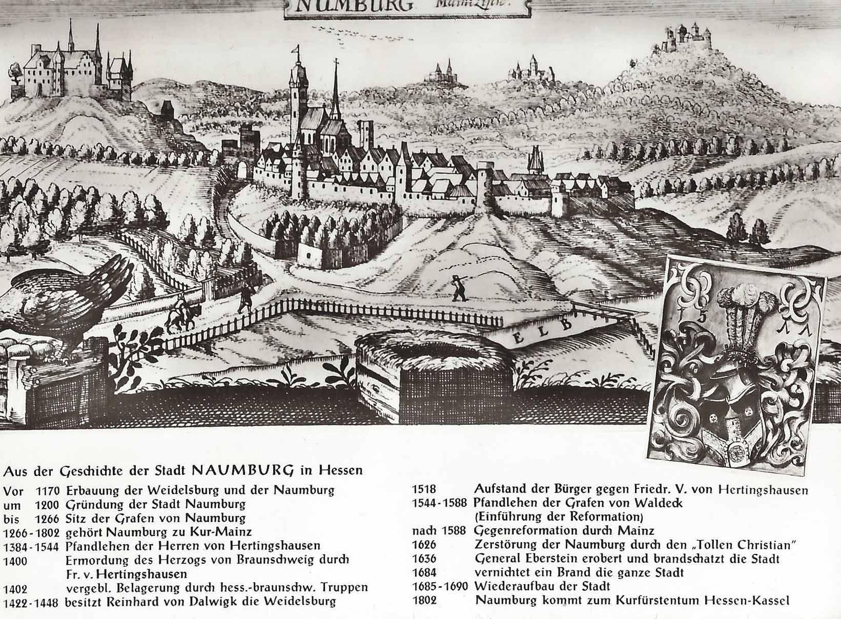 Historischer Stich von Naumburg